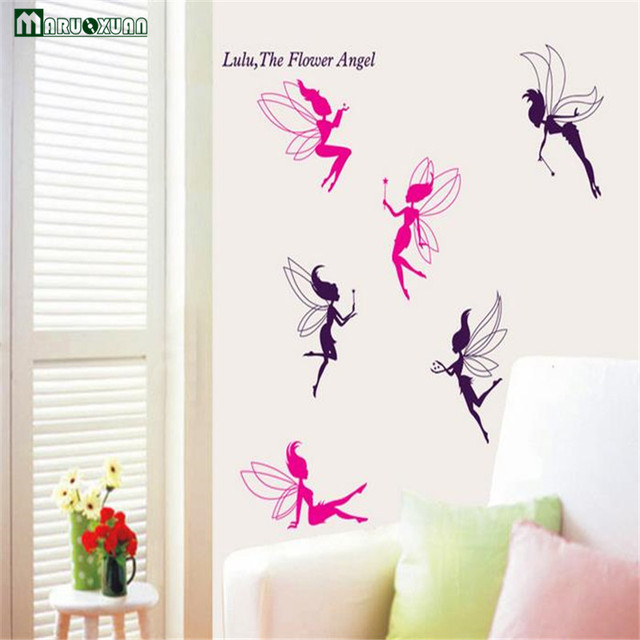 Aliexpresscom Buy Maruoxuan Fairy Flower Fairy Wall Stickers - Vinyl stickers designaliexpresscombuy eyes new design vinyl wall stickers eye wall