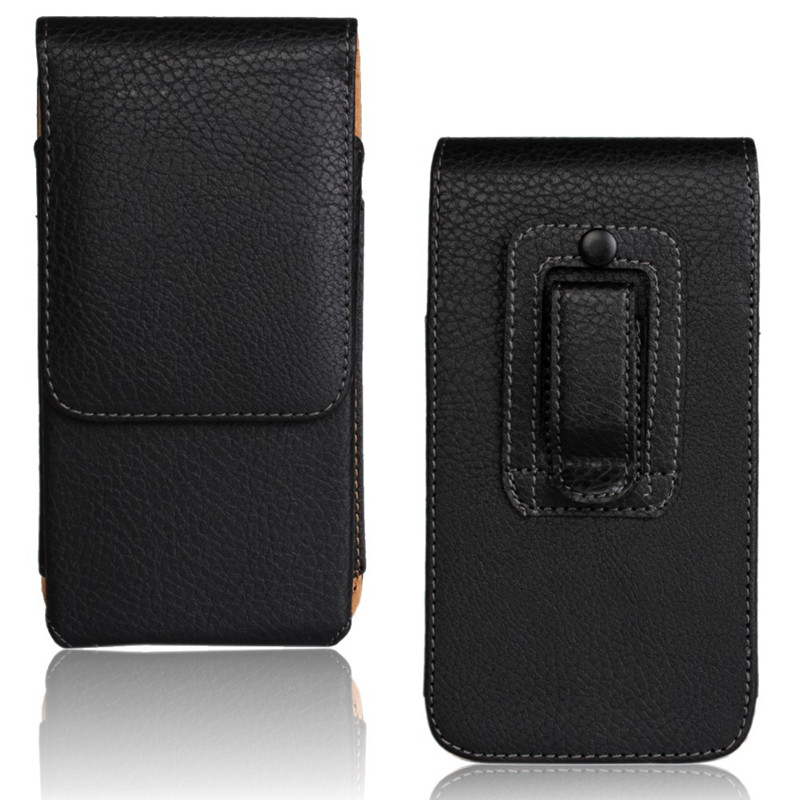 Universal Casual Leather Phone Pouch With Holster Bag Belt For Mobile Phones 4