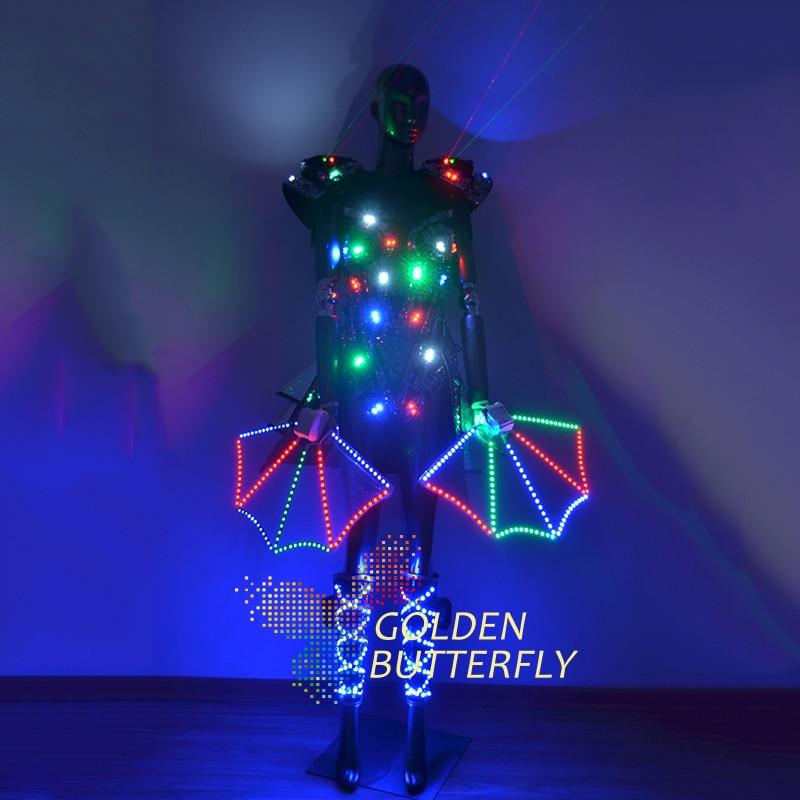 Illuminated Clothing LDE Luminous Dresses font b Suits b font Glowing Light Costumes font b Women