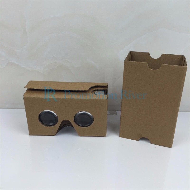 Event Supplies Logo Custom Google Cardboard V 2.0 Custom printing Virtual Reality Headset VR Viewer for up to 6 inch phone 3