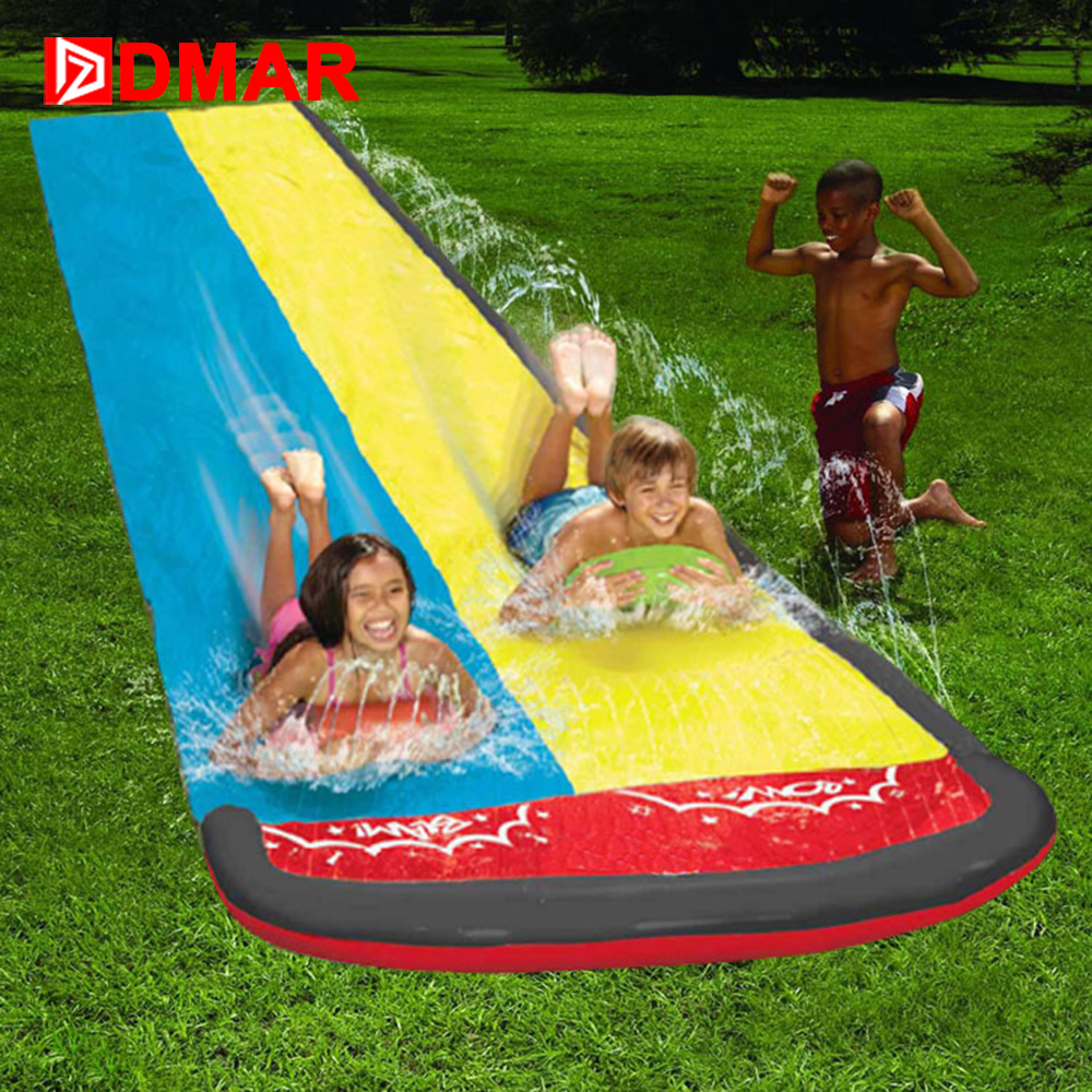 DMAR Inflatable PVC Slide for Kids Adults Outdoor Beach Inflatable Bed Park garden water spray toys Children Water Toys 2017 popular inflatable water slide and pool for kids and adults
