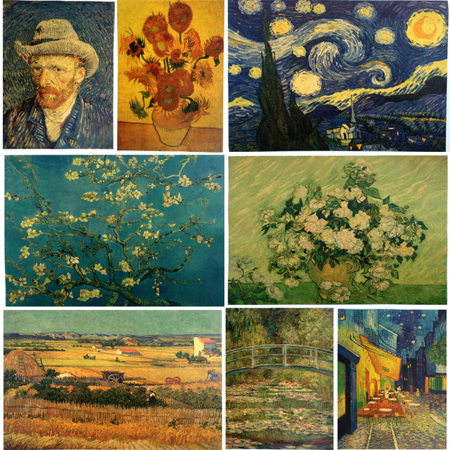 Van gogh painting famous Art Print Poster Wall Picture Canvas