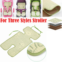 Baby Multifunctional Linen Cool Seat Cushion Foldable Outdoor Stroller Mats of Accessory For Summer