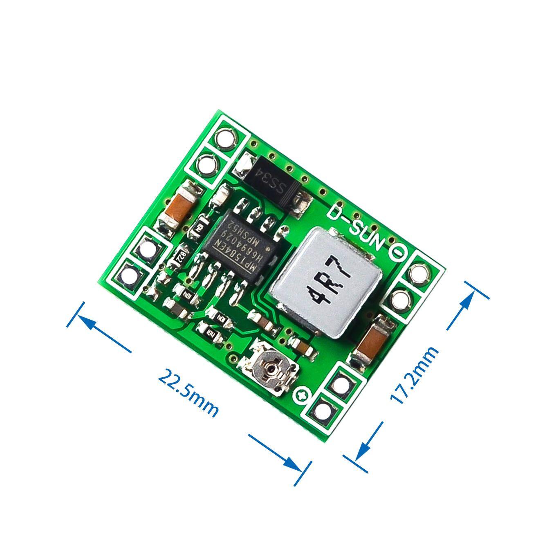 100PCS Ultra Small Size DC DC Step Down Power Supply Module MP1584EN 3A Adjustable Buck Converter