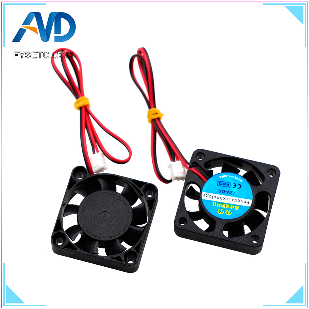 2pcs 4010 Cooling Fan 12V 2 Pin with Dupont Wire Brushless 40*40*10 Cool Fans Part Quiet DC 40m Cooler Radiato For Anet A8 A6 3d пазл expetro голова снежного барана blue 10634