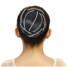 Woman Girl Ponytail Holder Hairpiece Diamond Wig Hair Ring Bun New 0803(China)