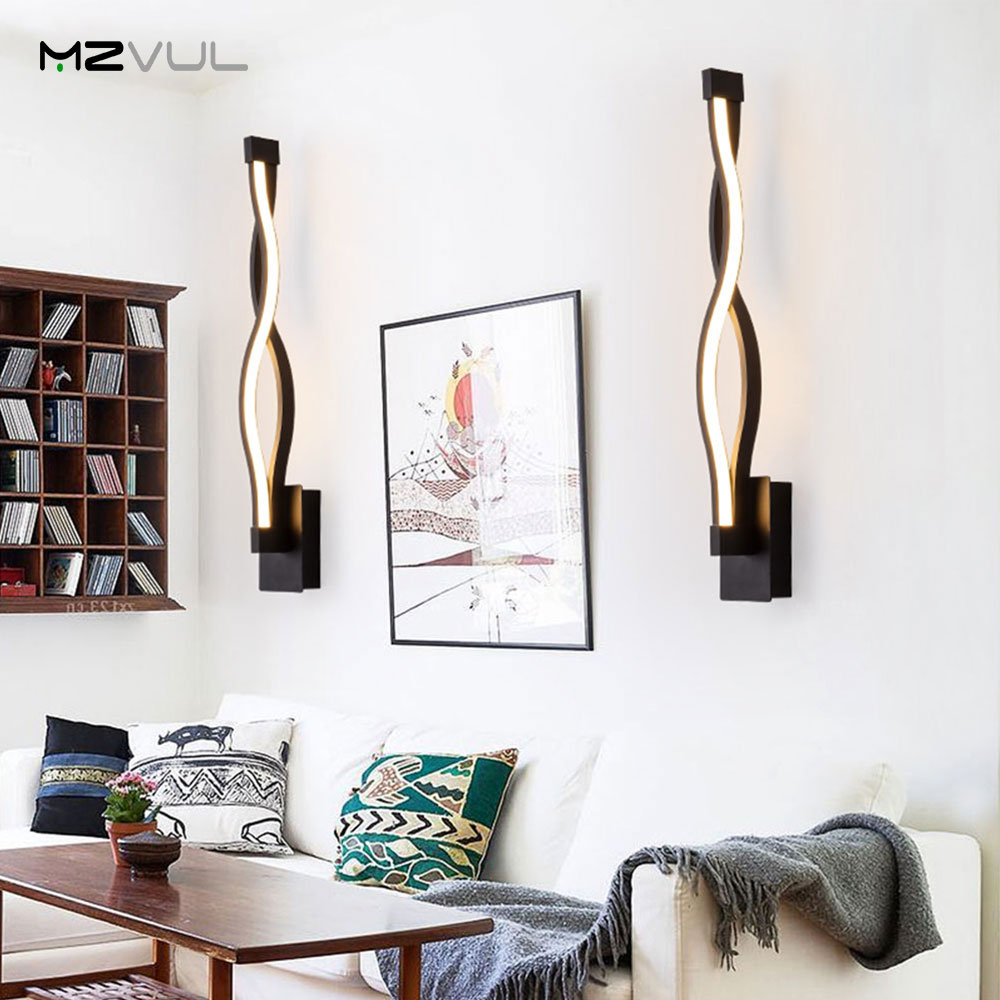 Modern Art Creative Wall Light 19W Living Room Bedroom ... on Wall Lighting For Living Room id=81720