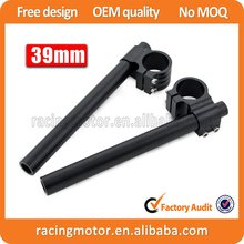 A Pair Motorcycle  Racing  Billet CNC 39mm Clip On Handlebars 1″ Bar Fits For Harley Davidson XL Sportster 88-Newer