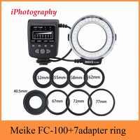 Meike FC-100 FC100 Macro anillo luz de Flash para Nikon Canon EOS 650D 600D 60D 7D 550D T4i T3i para Nikon d5300 D7000 D5200 D90 etc.