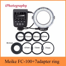 Meike FC 100 FC100 Macro Ring Flash Light for Nikon Canon EOS 650D 600D 60D 7D 550D T4i T3i for Nikon D5300 D7000 D5200 D90 etc