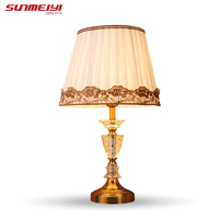 modern crystal table lamp abajur de mesa lamparas europe brief crystal bedside lamp abajur sala Lighting crystal lamp brief