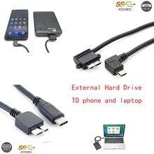 Tip C USB C ve mikro usb 2.0 USB 3.0 mikro B kablo konektörü telefon harici sabit disk için taşınabilir 2.5 3.5 HDD