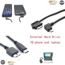 USB C typu C i złącze Micro usb 2.0 na USB 3.0 Micro B telefon na zewnętrzny dysk twardy do przenośnego dysku twardego 2.5 3.5