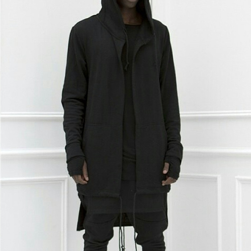 Men Hooded Sweatshirt 2019 Fashion Hip Hop Punk Rock Style Mantle Outwear Moleton  Jacket Hoodies Long Sleeve Cloak Male Coat