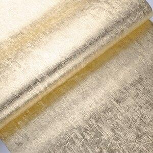 Image 4 - Rollo de papel tapiz dorado de lujo para decoración del hogar, papel de pared de papel de aluminio dorado brillante, lavable