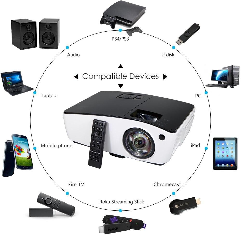 NIERBO Ultra Short Throw Projector 3D Daglicht Buiten Video 4000 ANSI - Home audio en video - Foto 6