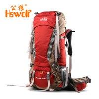 Hewolf 65L Кемпинг пеший Туризм Восхождение Сумки на открытом воздухе высокой плотности нейлон рюкзак для альпинизма открытый кемпинг восхожде