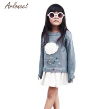 Arloneet Baby Fashion Cloud Sweaters Girls Kids Baby Cloud Sweater Knit Pullovers Warm Coat Outerwear Clothes 2018 drop shipped(China)