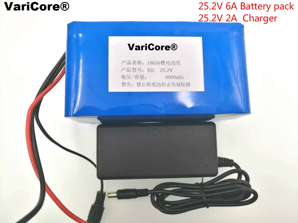 24V 6Ah 6S3P 18650 Battery li ion battery 25 2v 6000mah electric bicycle moped electric lithium