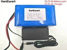 24 V 6Ah 6S3P 18650 Batería batería 25.2 v 6000 mah li-ion bicicleta eléctrica ciclomotor/eléctrica/de iones de litio batería + Cargador 1A
