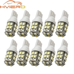 10X T10 1206 20SMD 20 Led White Car Wedge Light W5W 194 168 Auto Vehicle License Plate Clearance Lamp Reading Truck Bulb DC 12V