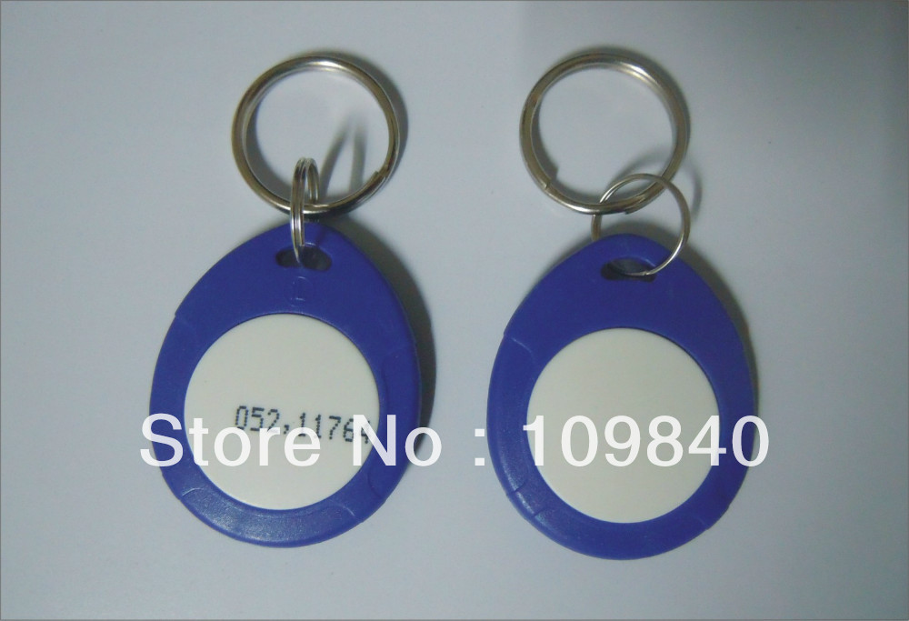 Wholesale 125khz Proximity keyfobs for access control system,RFID key tag 100pcs/lot turck proximity switch bi2 g12sk an6x