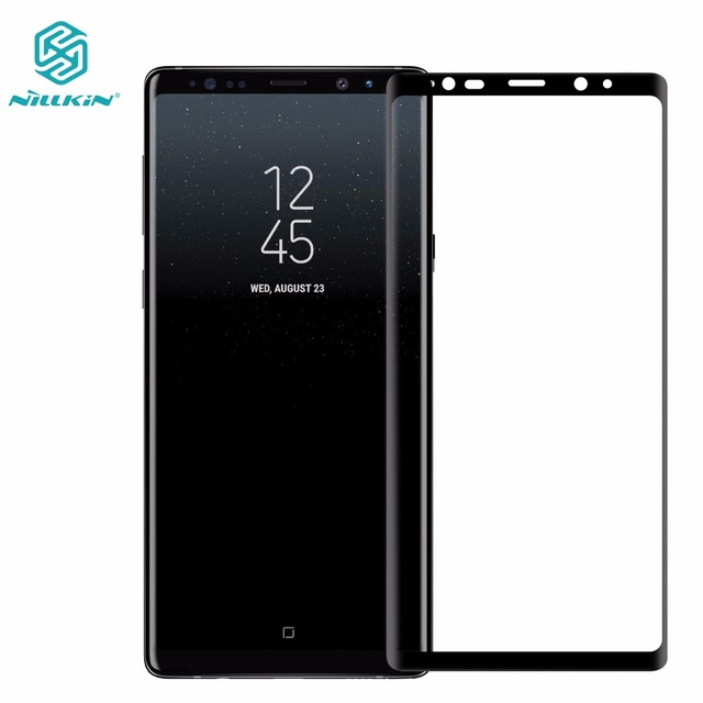 Protector de pantalla de vidrio templado para Samsung Galaxy Note 9 NILLKIN Amazing 3D CP + MAX, vidrio Protector de cobertura completa antiexplosión