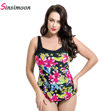 Female Siamese Cover Belly Spa Swimsuit backless high cut swimsuit print big size swimsuit monokini