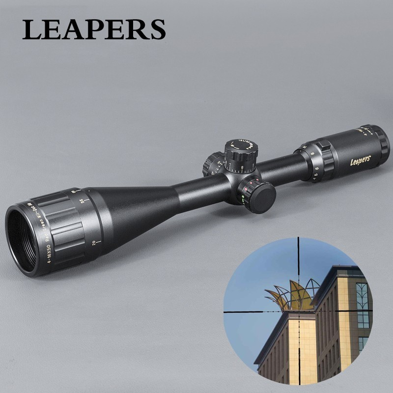 LEAPERS 4-16X50 Riflescope Tactical Optical Rifle Scope Red Green Blue Dot Sight Illuminated Retical Sight For Hunting Scope leapers 4 16x50 riflescope tactical optical rifle scope red green blue dot sight illuminated retical sight for hunting scope