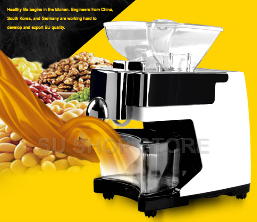 Cold and hot dual oil press coconut oil machine olive oil extraction machine 110V/220VCold and hot dual oil press coconut oil machine olive oil extraction machine 110V/220V