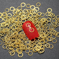 100 Pcs Mulheres Rodada Pregos de Metal Unhas Unhas Etiqueta Do Prego 3D Encantos Decorações Suprimentos