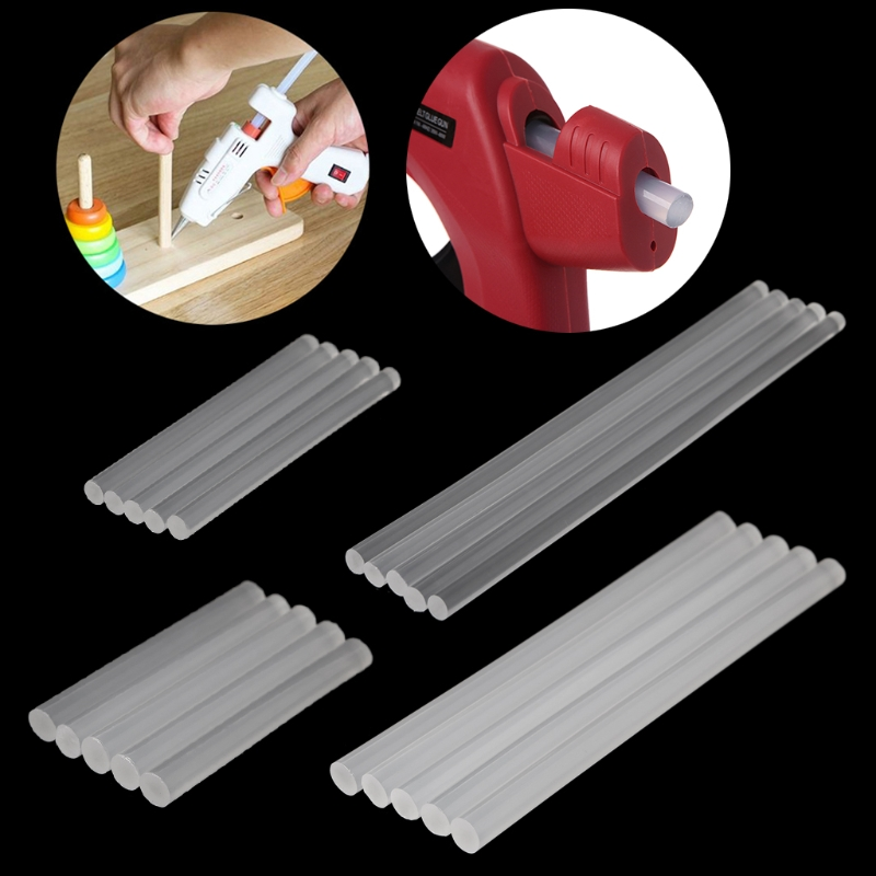 5pcs Hot Melt Glue Stick Transparent Adhesive For DIY Crafts Toys Repair Tools