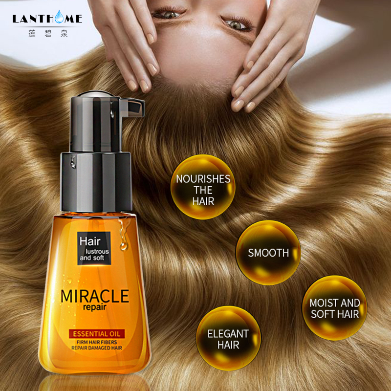 Moroccan Pure Argan Oil Essential Oil Treatment For Damaged Dry Moisturizer Hair Soft Shiny Repair Hair Split Ends Treatment