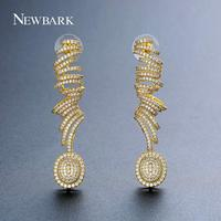 NEWBARK Latest Long Twist Spiral Earrings Lady Jewelry Gradient Length Dangle Earring Hot Sales Personalized Gifts