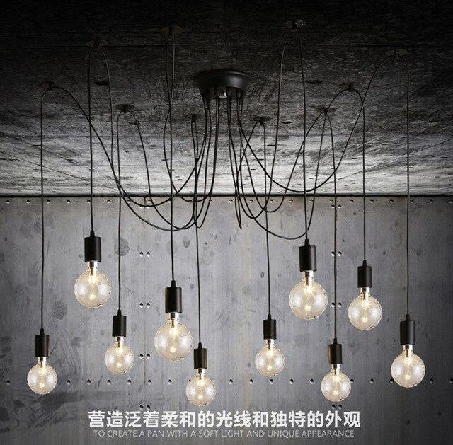 Creative LED light bulb chandelier lighting simple fashion ...