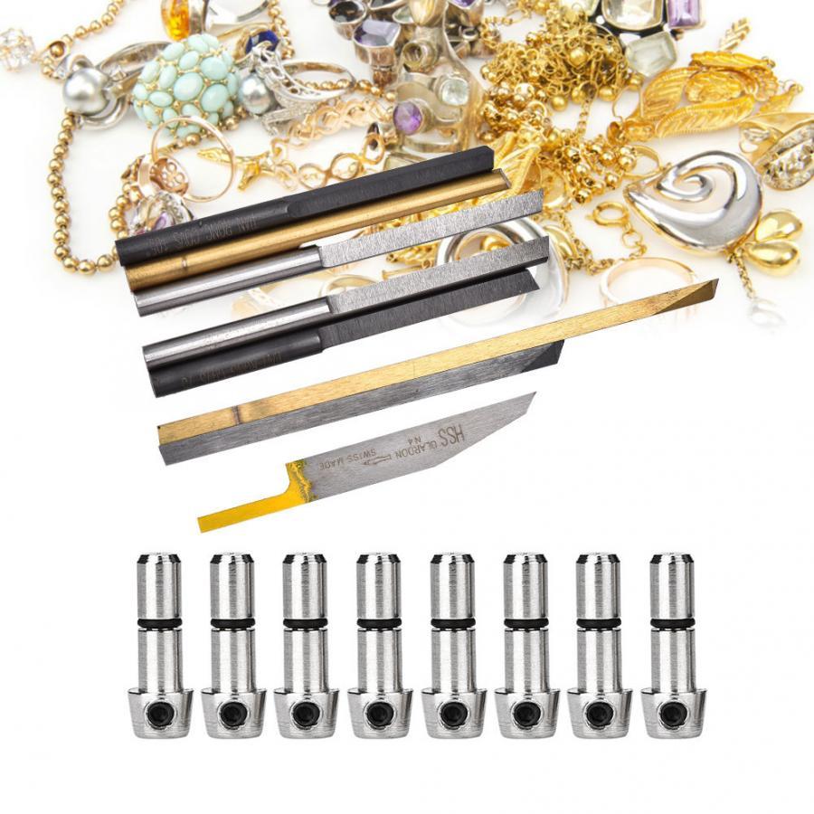 8 قطعة مجوهرات أداة الحفر قطع لقم هوائي تأثير الحفر النقش آلة صنع المجوهرات معالجة أداة للصائغ-في أدوات ومعدات المجوهرات من الإكسسوارات والجواهر على  مجموعة 1