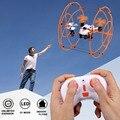 Novo Mini rc zangão Zangão 2.4G 4CH 6 Eixo Rc Dron gaiola Quadcopter Drones Voando Helicóptero de Brinquedo de Controle Remoto Profissional VS h20c