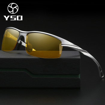 YSO Night Vision Glasses Men Aluminium Magnesium Frame Polarized Night Vision Goggles For Car Driving Fishing Anti Glare 8213