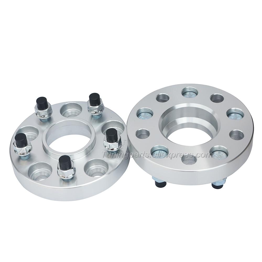 "4pc 5x4.5 5x114.3 25mm 1/"" Wheel Spacers 12x1.5 fits Mazda 3 Evo 8 9 10"