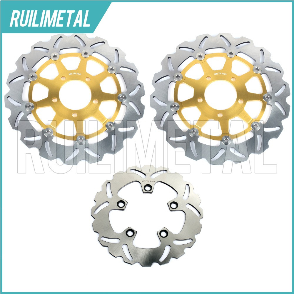 Full Set New Front Rear Brake Discs Rotors for GSXR 600 750 97-03 99 00 K3 GSX-R 1000 01 02 K1 K2 TL1000R 98-03 TL1000S 97-01 full set front rear brake discs disks rotors pads for suzuki gsxr 750 94 95 gsx r 1100 p r s t 1993 1994 1995 1996