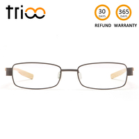 TRIOO Titanium Ultra Light 12g Minus Glasses Unisex Special Chic Prescription Eyewear Square Transparent Optical Eyeglasses