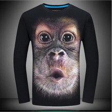 Male 3D T-Shirts Own Design Skull/Rock/Metal/Death/Steam Punk/Dragon Print Men Long Sleeve Tshirt Plus Size S-6XL