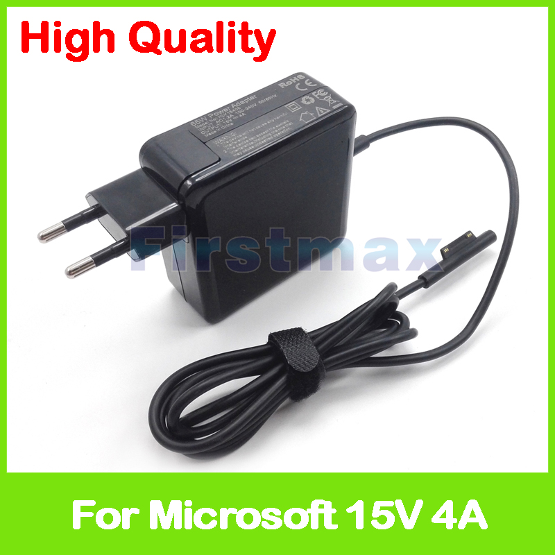 15V 4A 60W A1706 laptop charger ac adapter for Microsoft Surface Pro 4 Surface book Power Supply EU Plug 15v 4a 65w ac adapter power supply tablet pc charger for microsoft surface book pro 4 1706 brand new eu or us plug
