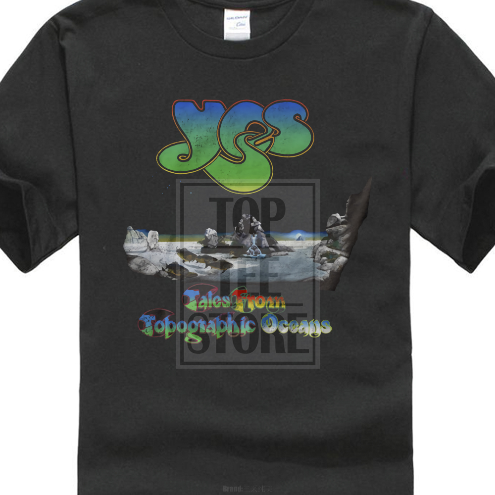 Yes Topographic Oceans   T     Shirt   S M L Xl 2Xl New Official   T     Shirt   Yes Band