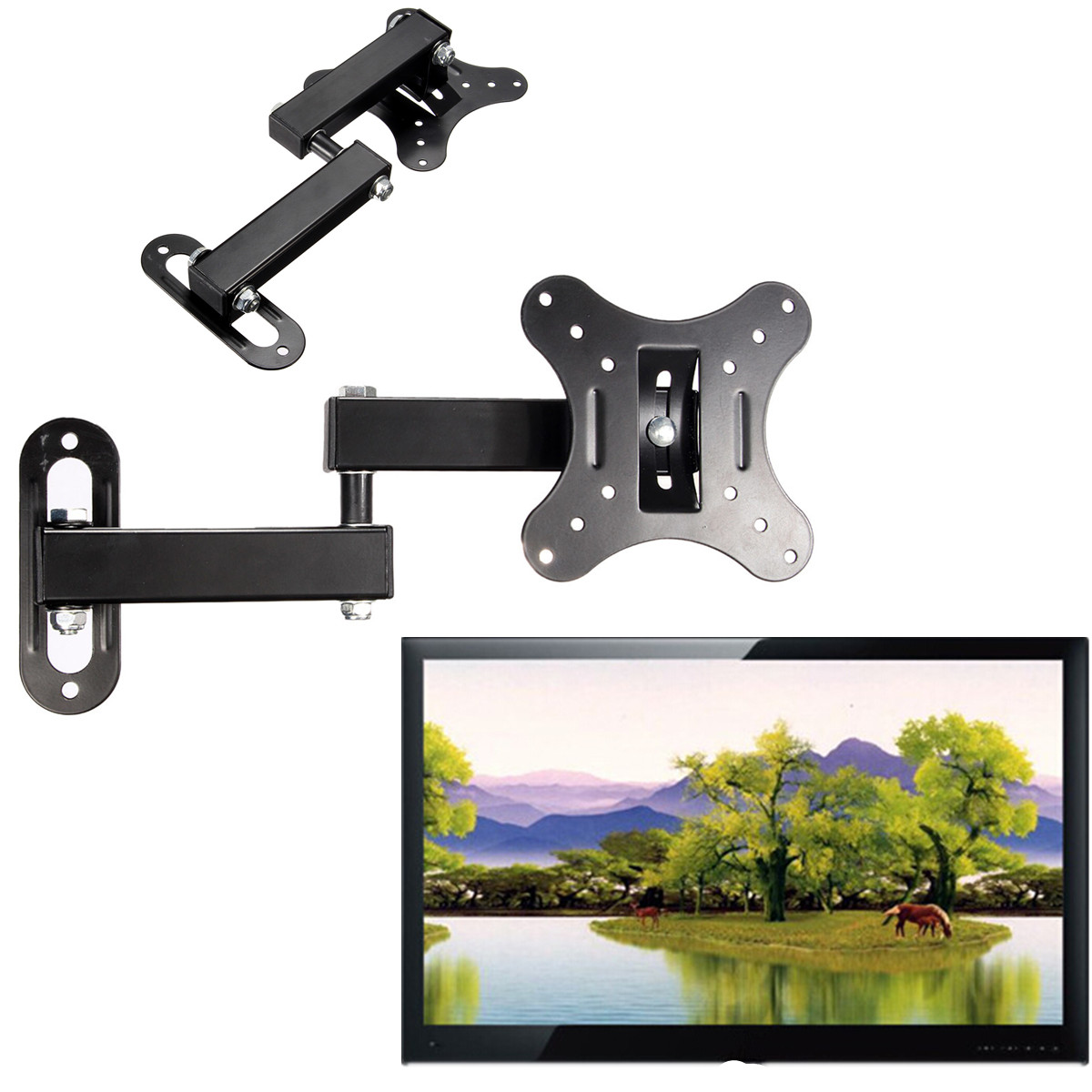 articulating universal tv bracket 14 inch to 27 inch led. Black Bedroom Furniture Sets. Home Design Ideas