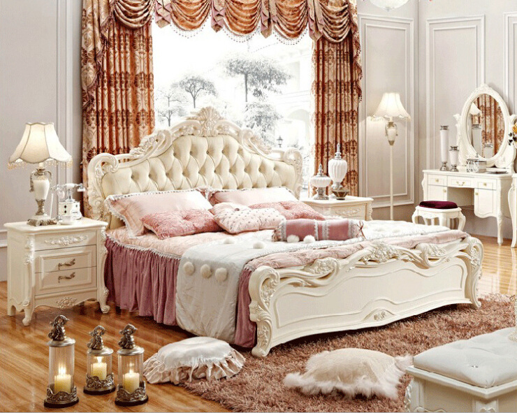 Buy Luxury New Classic Design Wooden Bed Of Bedroom Furniture Set 0409 Fa802