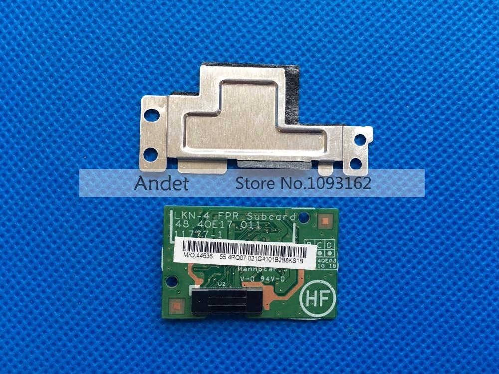 цены New Original for Lenovo ThinkPad X1 Carbon MT 34xx Fingerprint Reader Sensor Subcard Board with Metal Frame Screws 04W3899