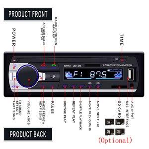 Image 4 - Podofo Autoradio JSD 520 12V 대시 1 Din Bluetooth 차량용 라디오 SD MP3 플레이어 자동 오디오 스테레오 FM 수신기 Aux 입력
