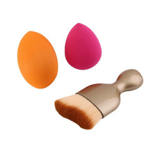 3pcs/set Professionl Wave Style Facial Makeup Brushes Powder Foundation Blush Brush Set Kits Cosmetic Tool top quality