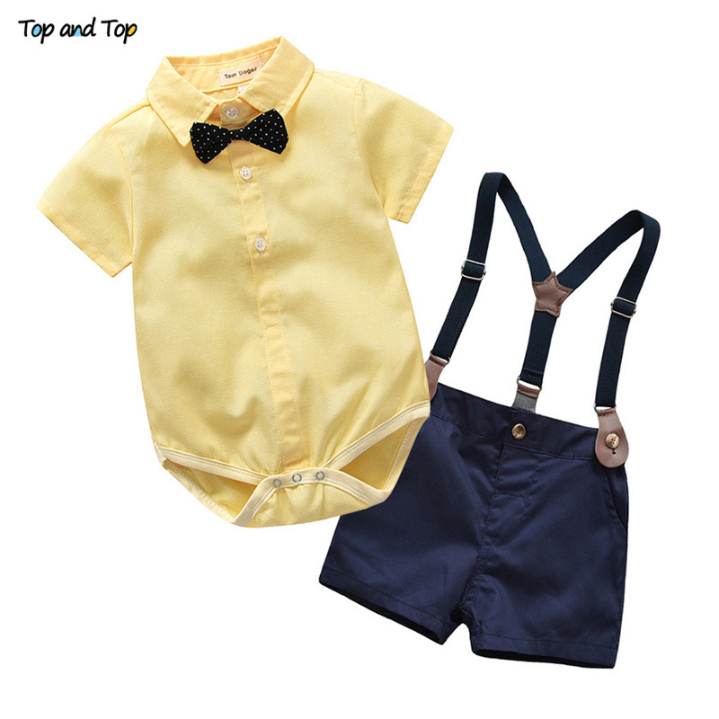f6b9c1e8b Top and Top Toddler Boys Clothing Set Gentleman Suit Kids Short ...